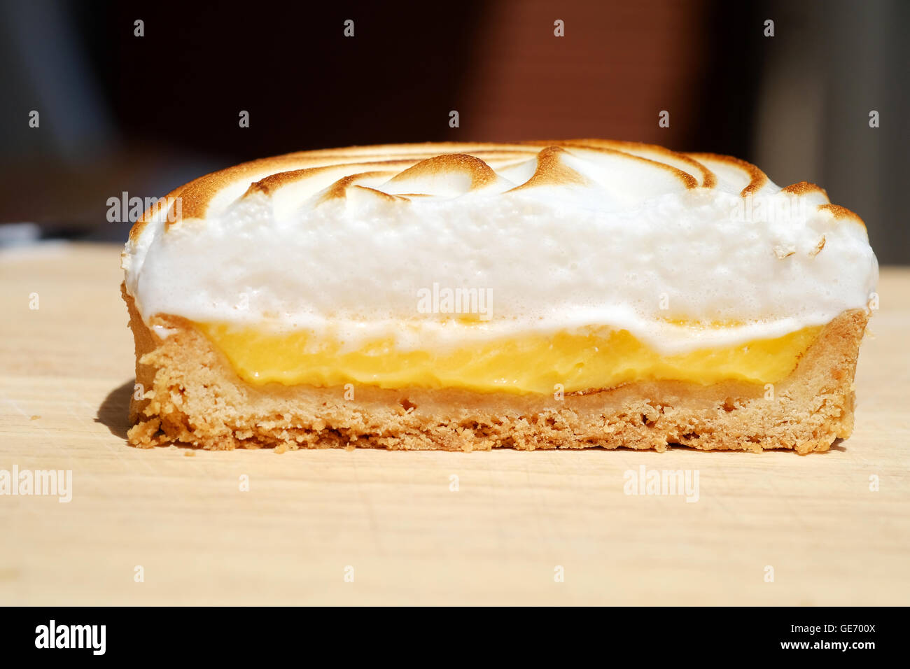 A delicious looking of Lemon Meringue cake - Stock Image