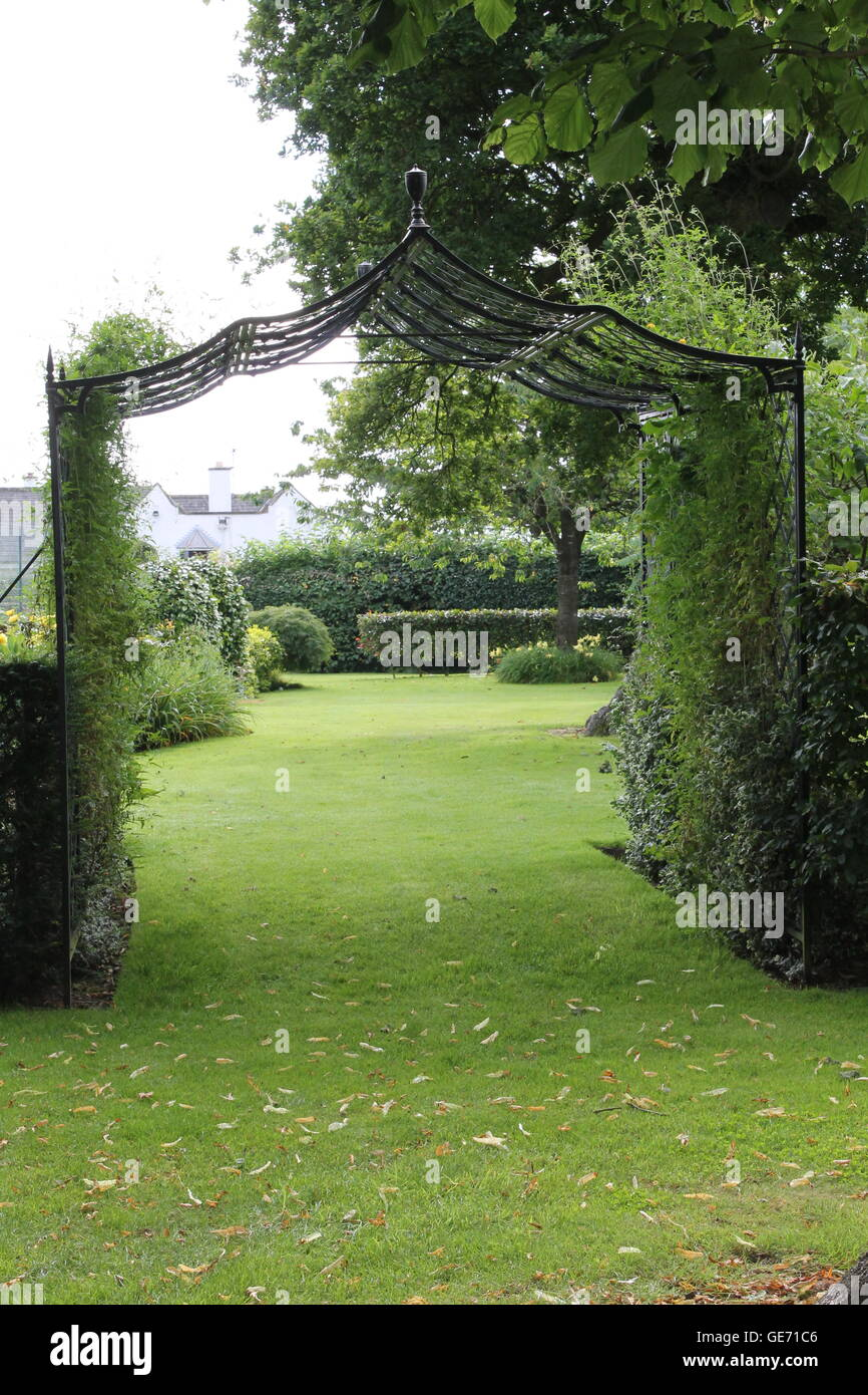 Burrows gardens, Derbyshire Stock Photo