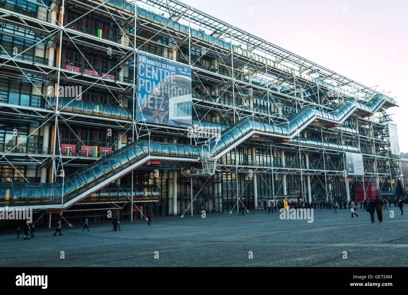 Centre Georges Pompidou museum in Paris - Stock Image