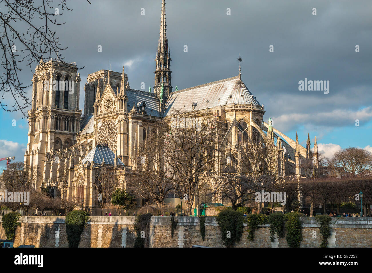 Notre dame Cathedral of Paris - Stock Image