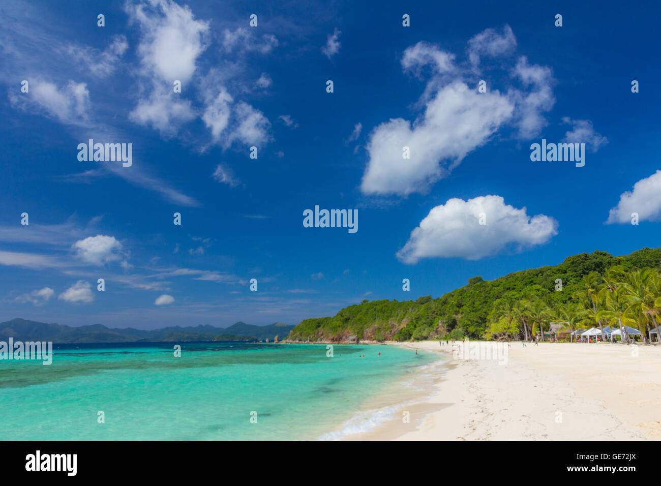 Coron Palawan Island Beach In The Philippines Stock Photo