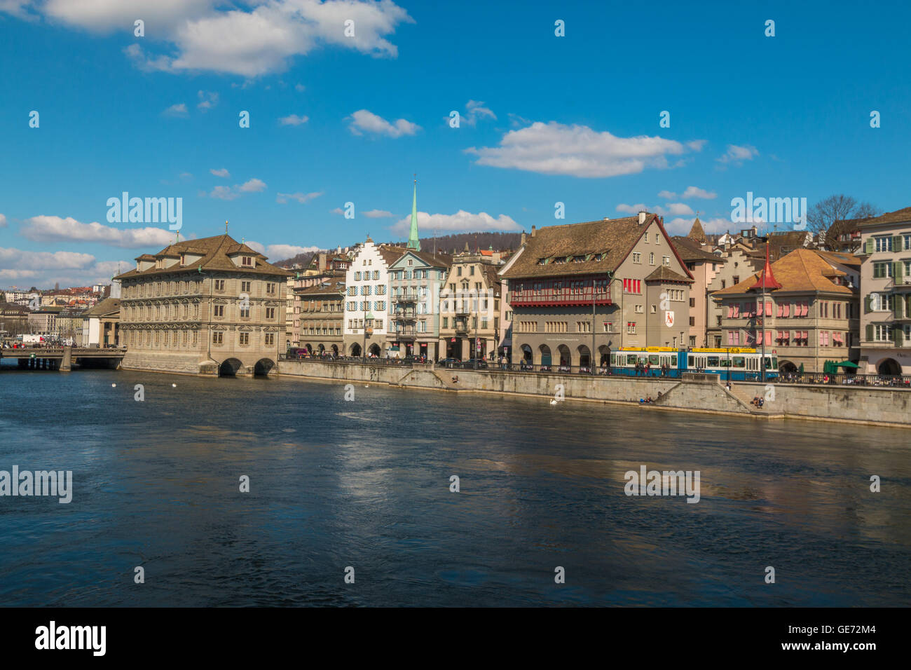 View of Zurich city - Stock Image