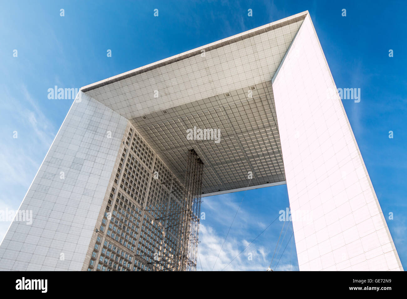 The arch in La Defense Paris Stock Photo