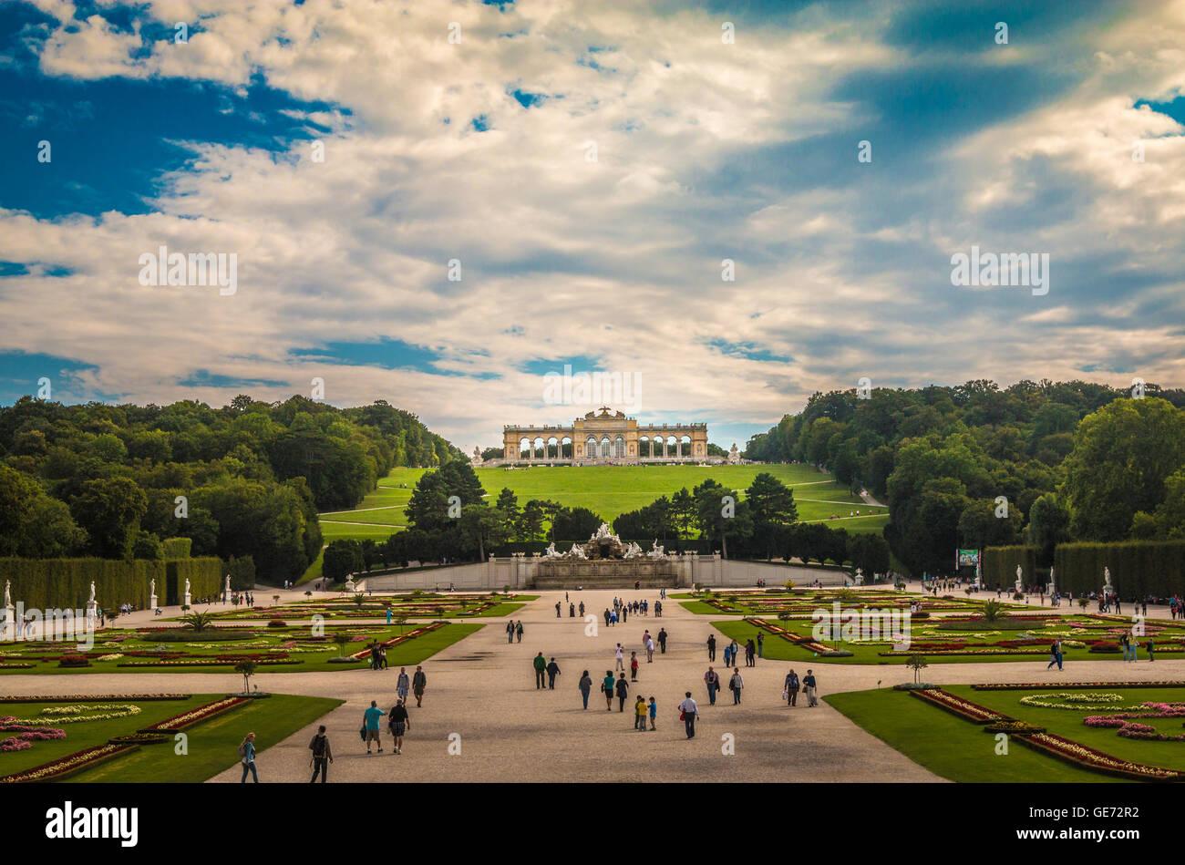 Schönbrunn Palace in Vienna Austria - Stock Image