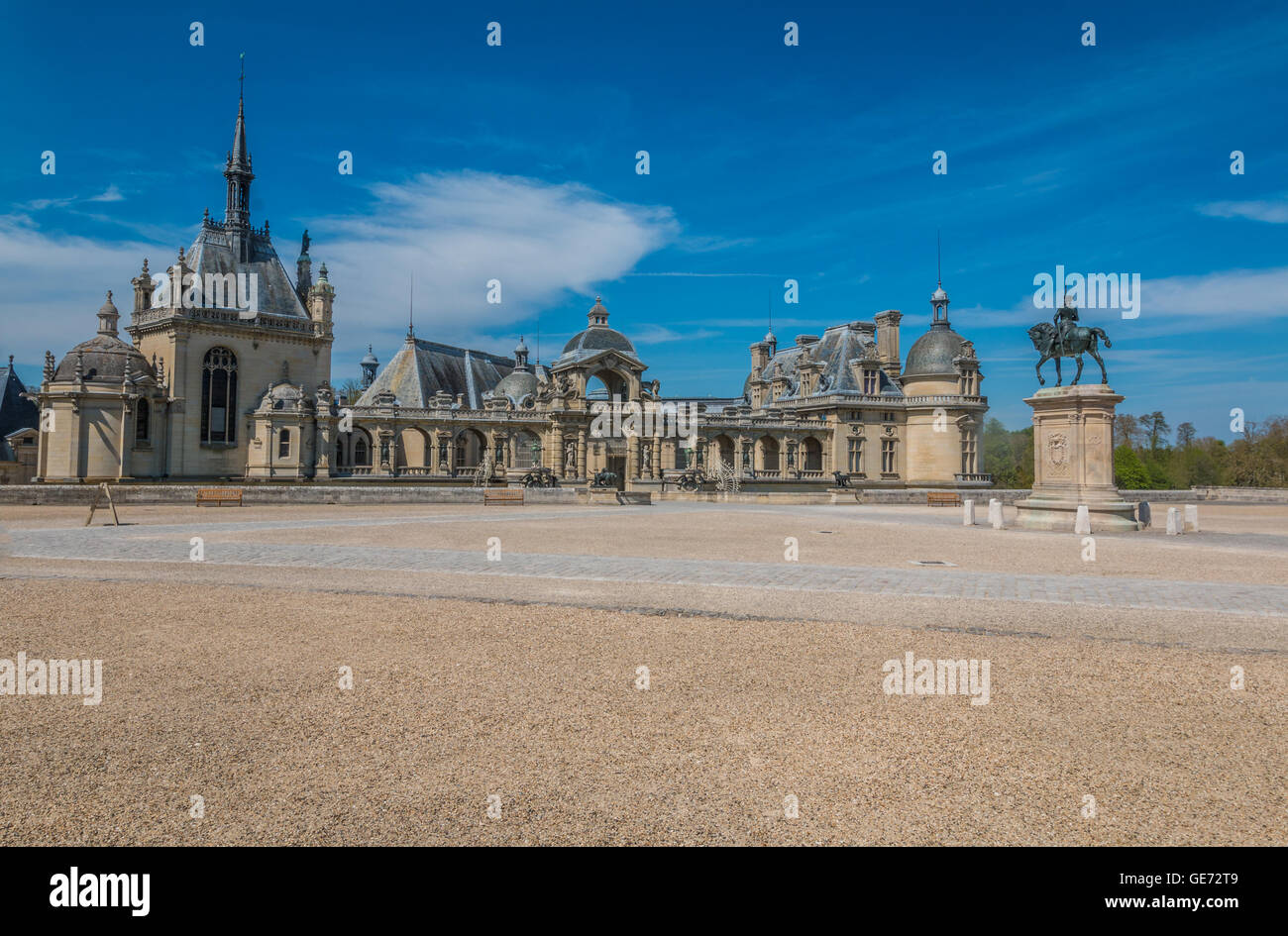 Chateau Chantilly in France - Stock Image