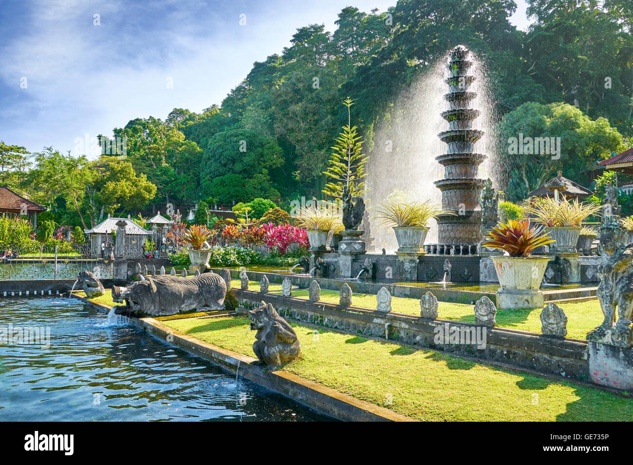 Tirta Gangga Royal Water Garden: Balinese Garden Stock Photos & Balinese Garden Stock