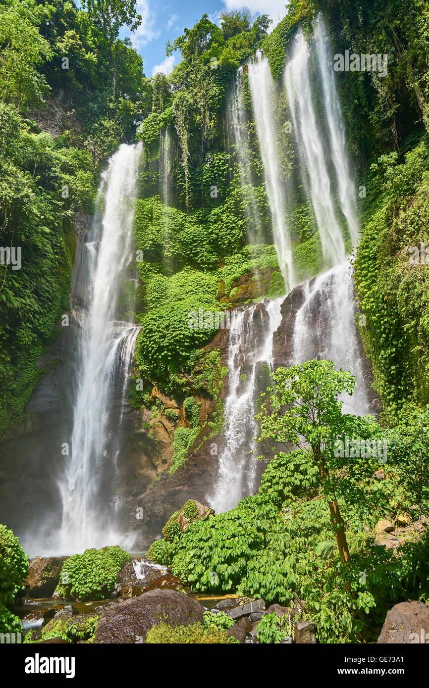 Sekumpul Waterfall, Bali, Indonesia - Stock Image