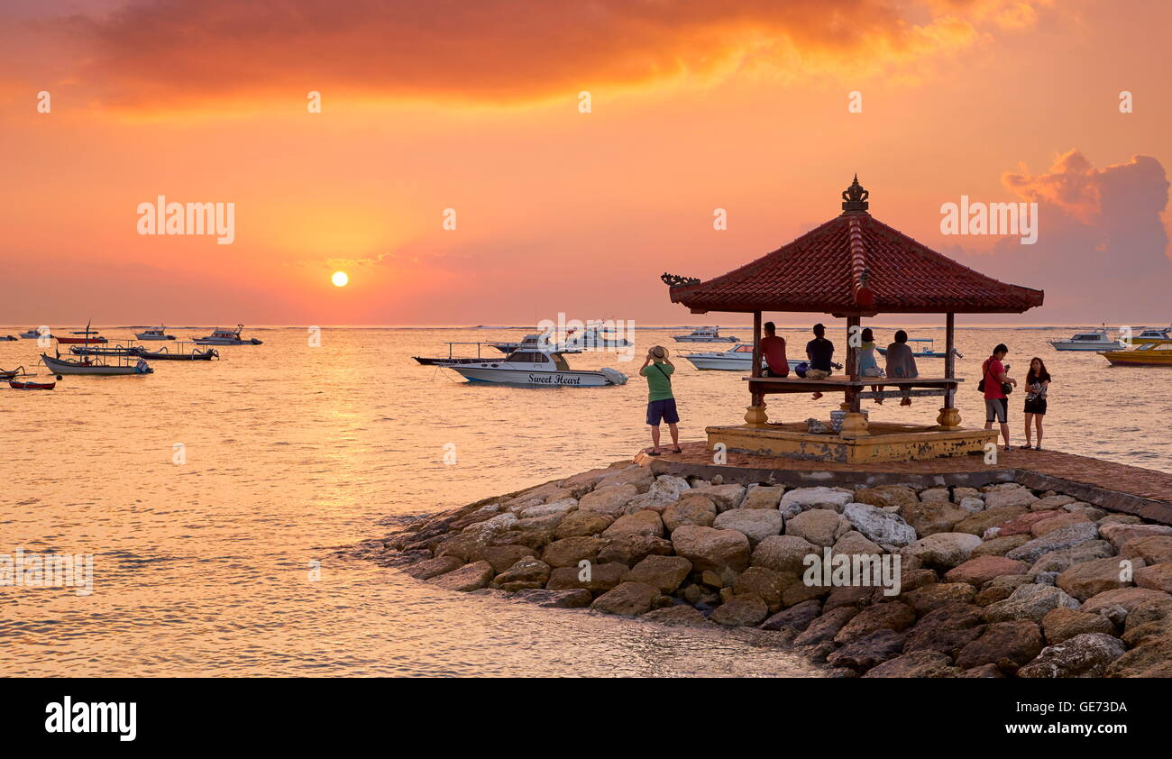 Bali, Indonesia - Sanur Beach at sunrise - Stock Image