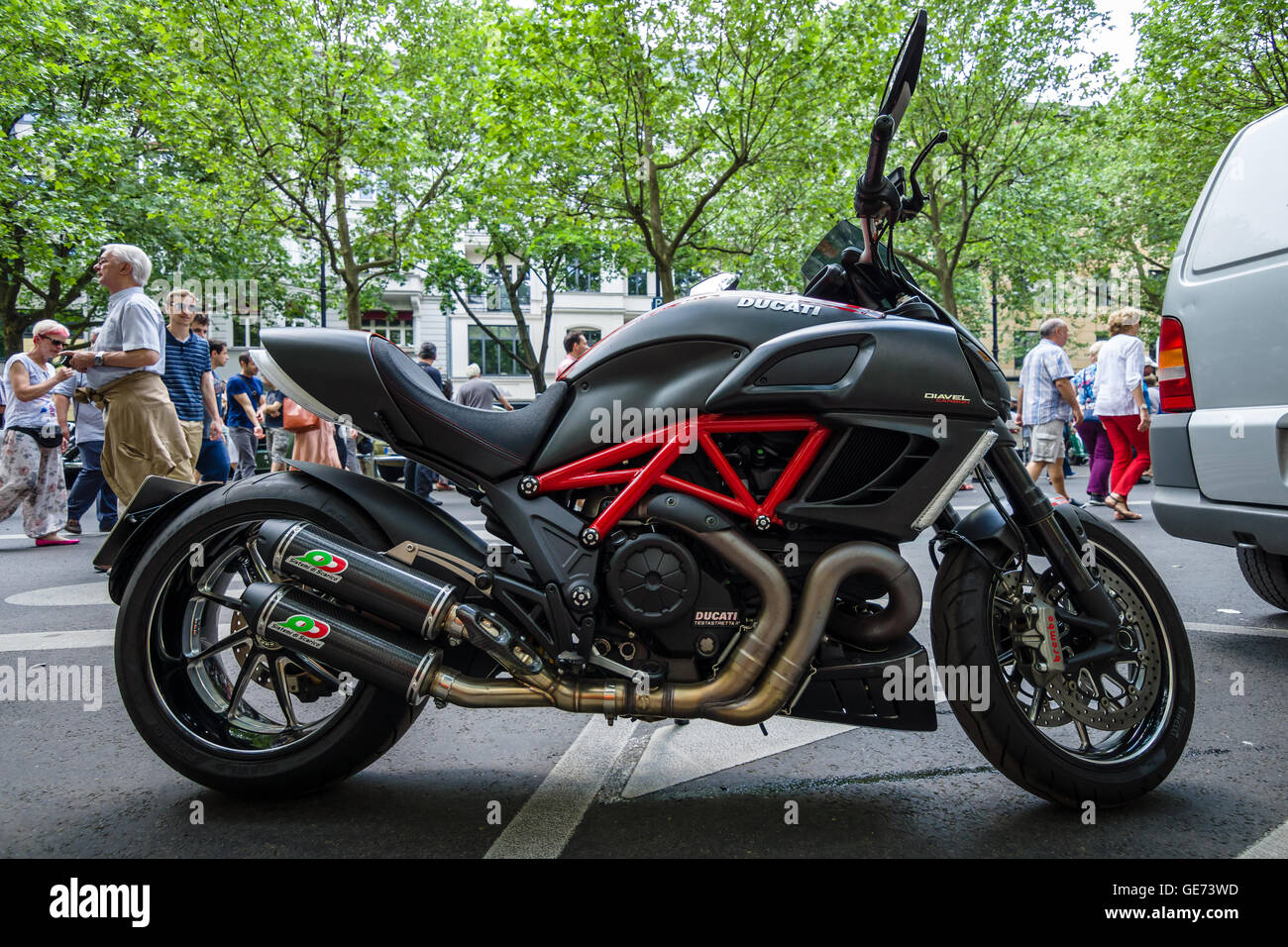 BERLIN - JUNE 05, 2016: Superbike Ducati Diavel Carbon. Classic Days Berlin 2016. - Stock Image