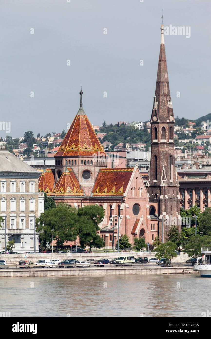 Calvinist Church, Budapest, Hungary Stock Photo