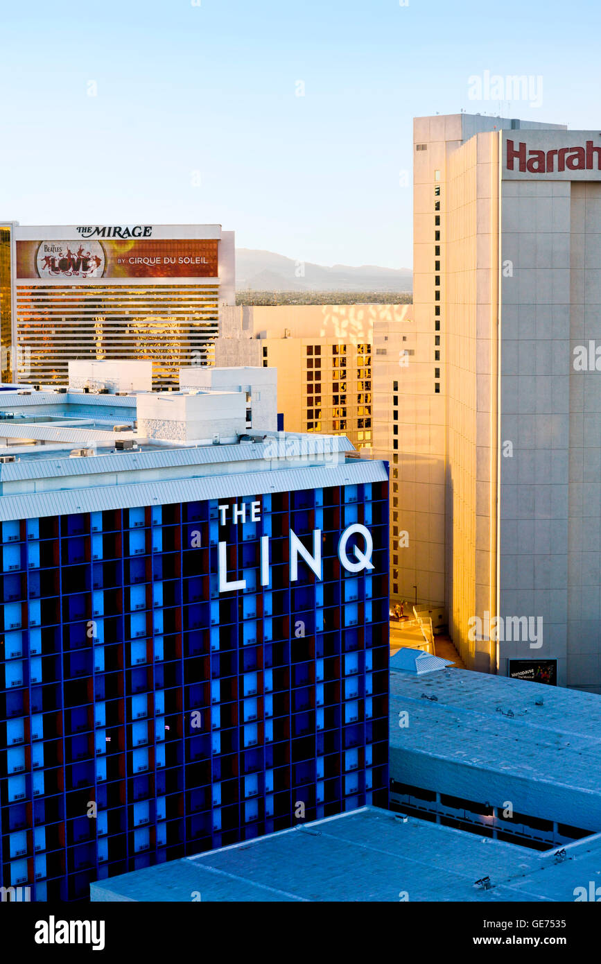Las Vegas Skyline From The High Roller At The Linq Hotel