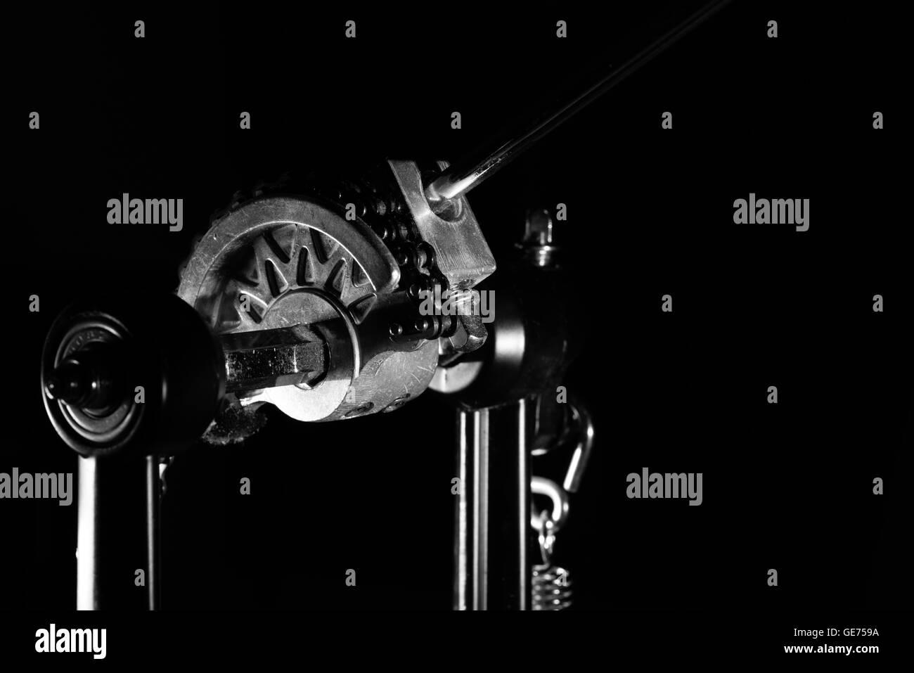Drum Pedal Mechanism close up - Stock Image