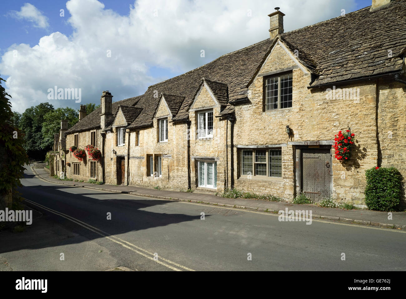 The Street, Castle Combe, Wiltshire -4 - Stock Image