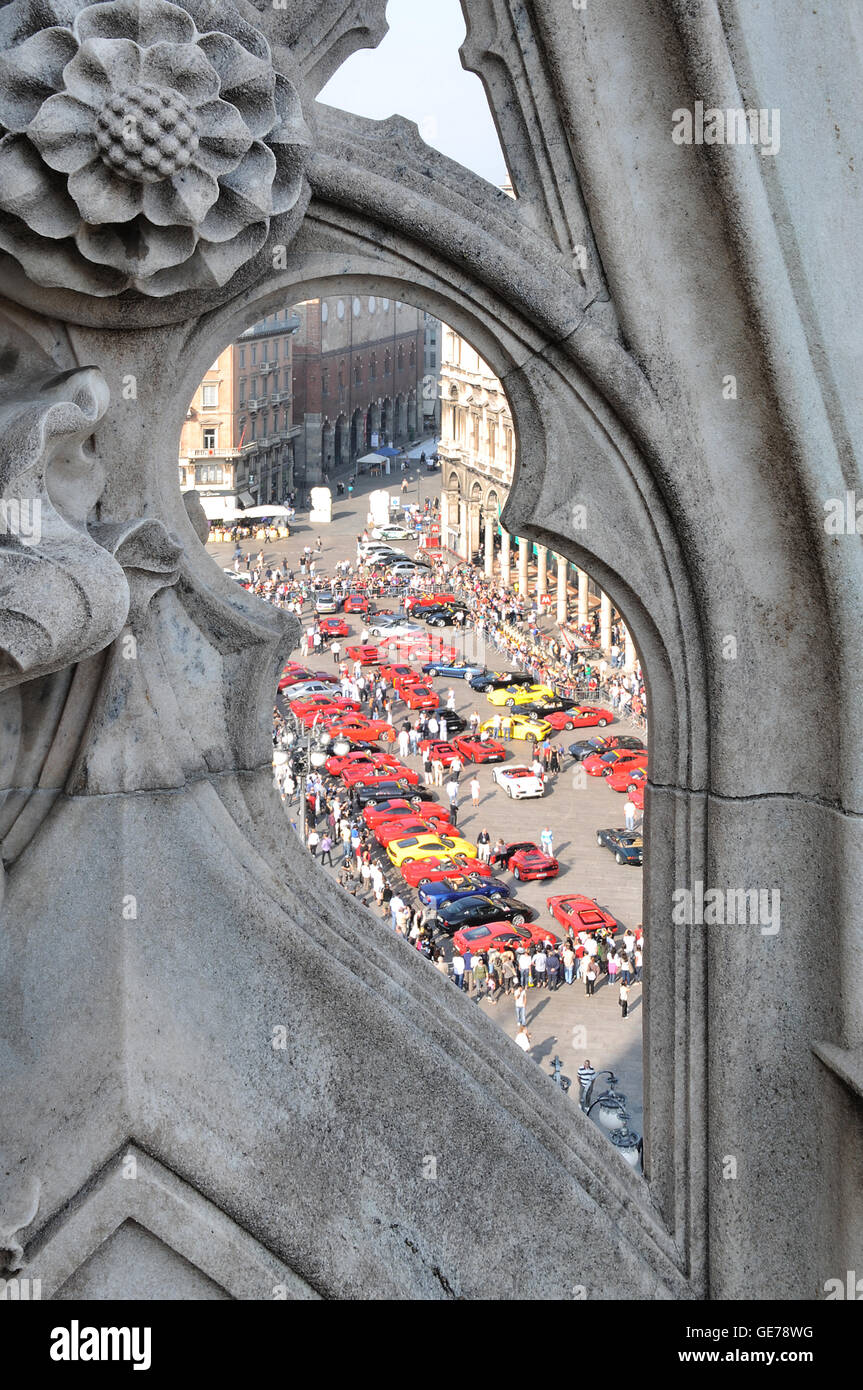 Milano, Mailand, Dome, Cathedral, Church, Ferrari, Blessing - Stock Image