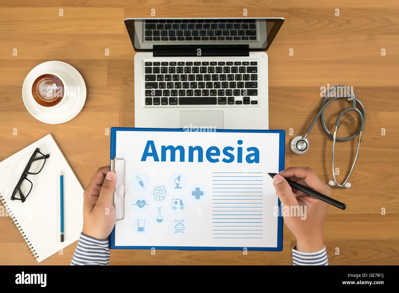 Amnesia - Stock Image