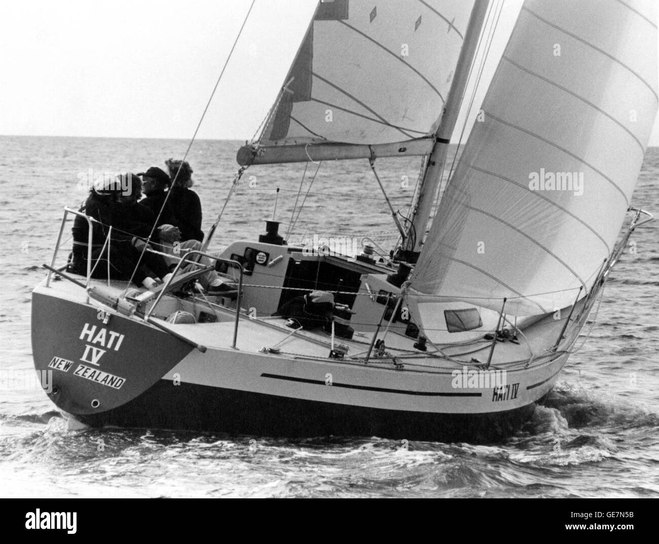 AJAX NEWS PHOTOS. 1974. TORBAY, ENGLAND. - WORLD ONE TON CUP CHAMPIONSHIPS - HATI IV, ONE OF THREE NEW ZEALAND YACHTS Stock Photo