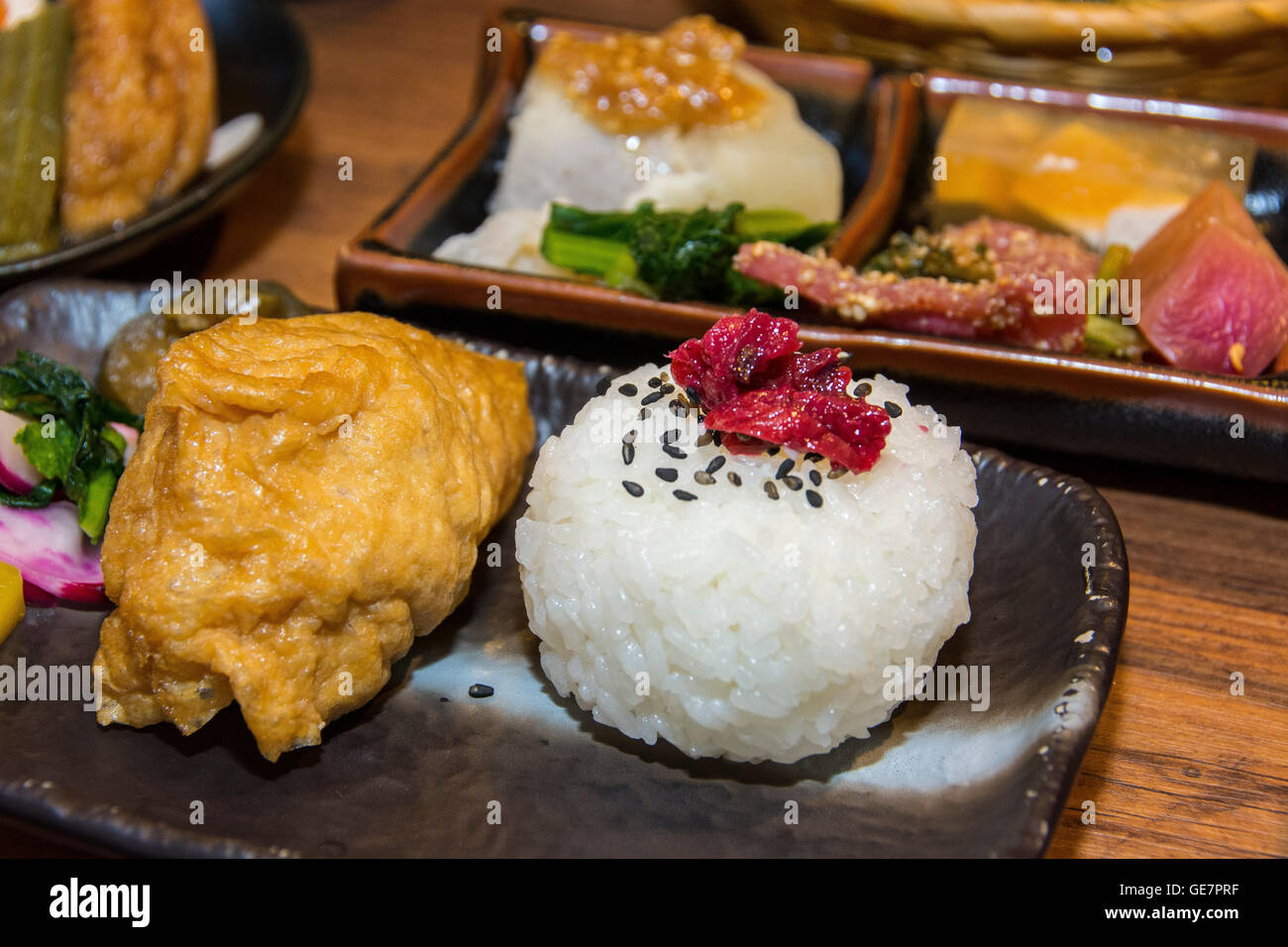 A traditional Japanese Kaiseki dinner. Japan - Stock Image