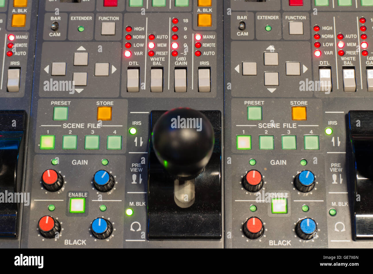 buttons equipment for camera control panel - Stock Image