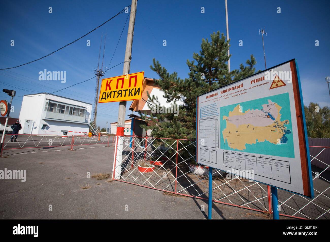 Chernobyl exclusion zone, Ukraine - Stock Image