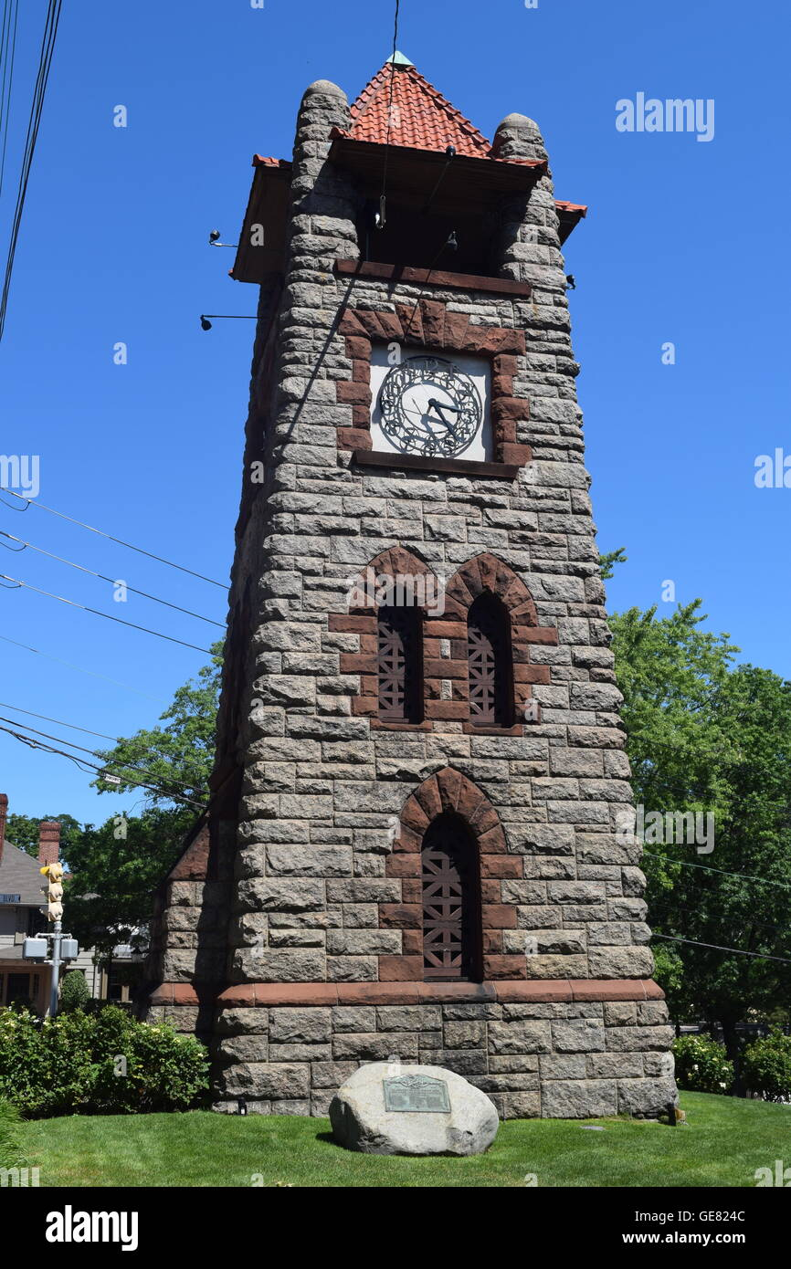 Village Clock Tower - Stock Image