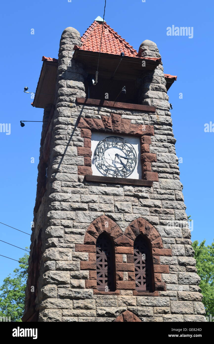 Historic Roslyn Clock Tower - Stock Image