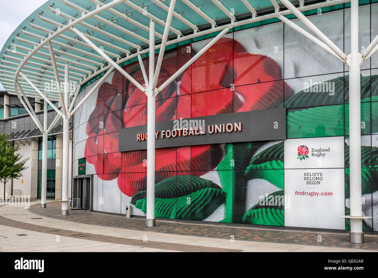Twickenham Rugby Football Union headquarters in south west London - Stock Image