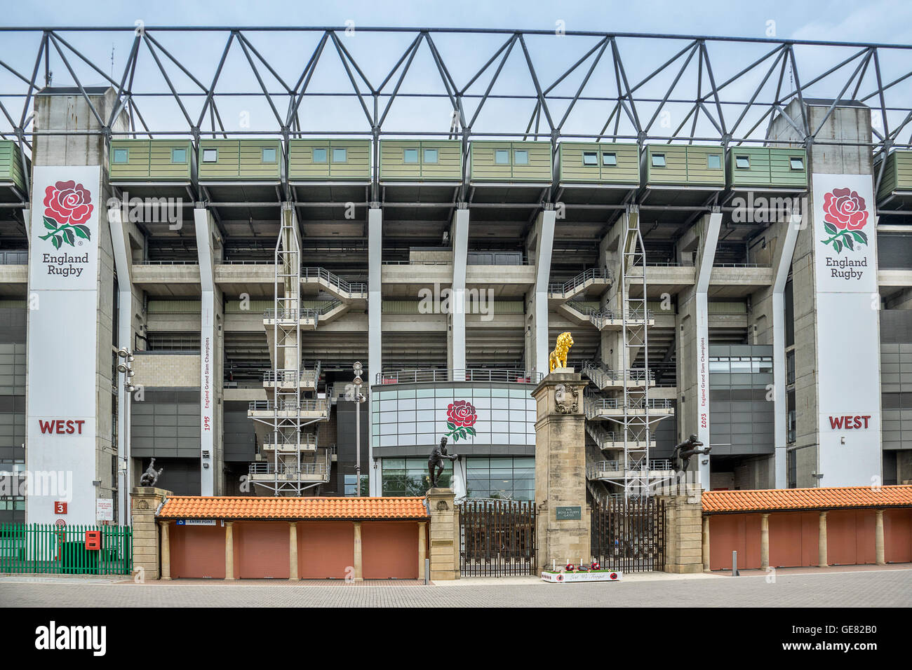 Twickenham Stadium in south west London - Stock Image