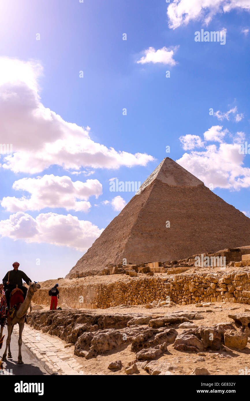 PYRAMIDS  of GIZA EGYPT - Stock Image