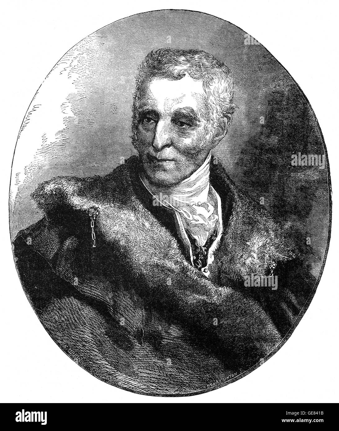 Field Marshal Arthur Wellesley, 1st Duke of Wellington, (1769 – 1852), was an Anglo-Irish soldier and statesman. - Stock Image