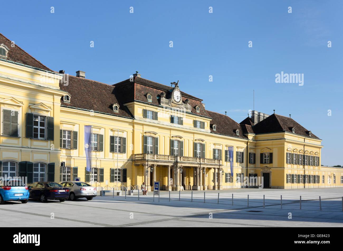 Laxenburg: square Schlossplatz, palace Blauer Hof, Austria, Niederösterreich, Lower Austria, Wienerwald, Vienna Stock Photo