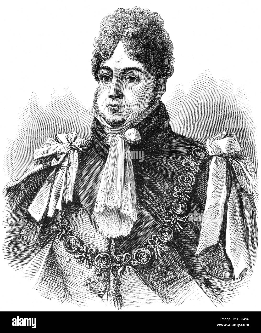 George Frederick, served as Prince Regent during his father's final mental illness. Following the death of his - Stock Image