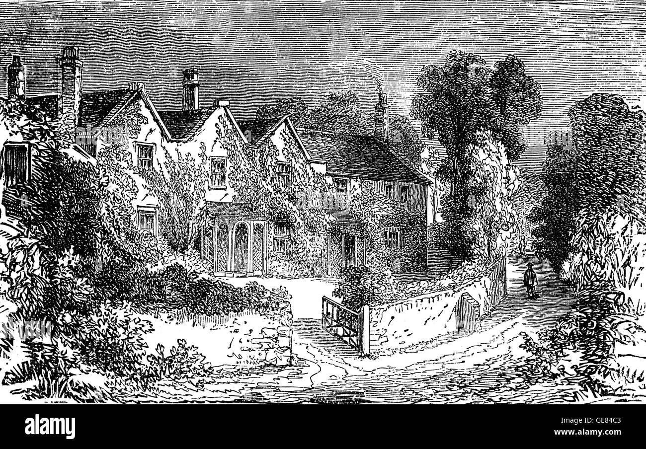 The home of Thomas Moore (1779 – 1852), at  Sloperton Cottage at Bromham, Wiltshire, England. He  was an Irish poet, - Stock Image
