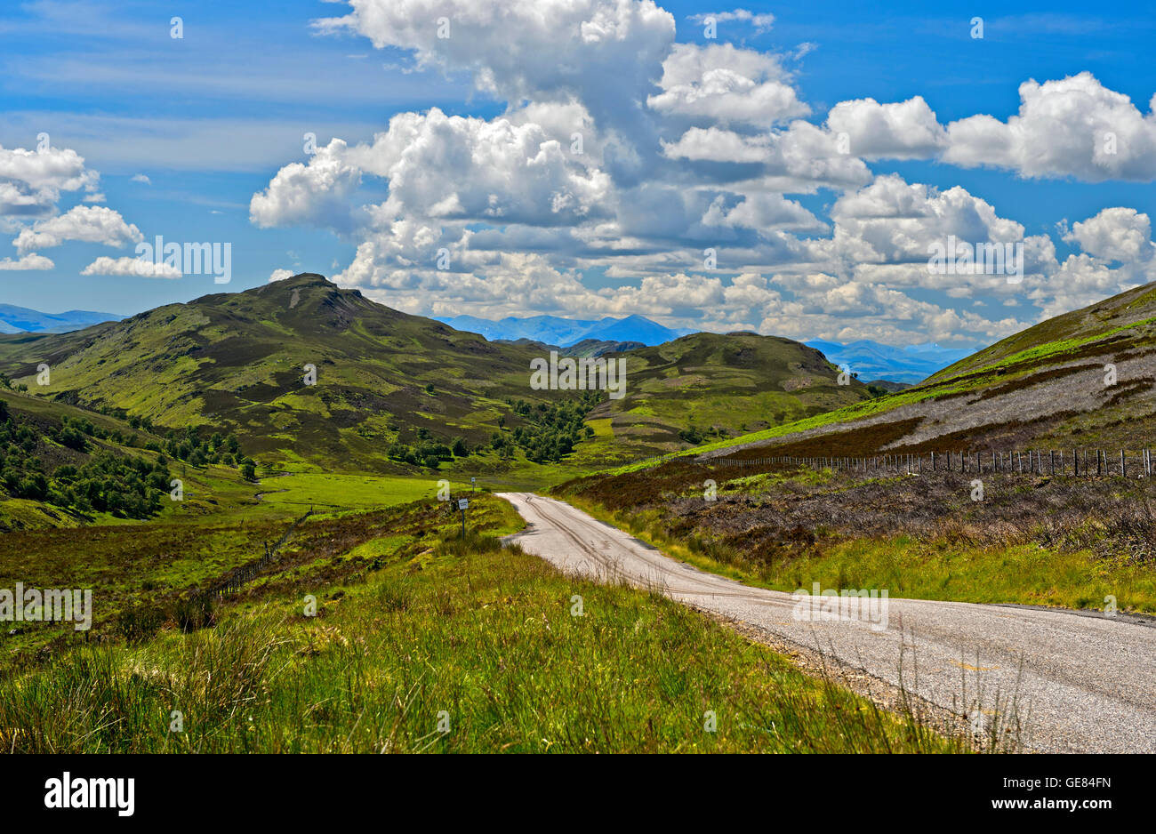 General Wade's Military Road on the south side of Loch Ness, Scotland, Great Britain - Stock Image