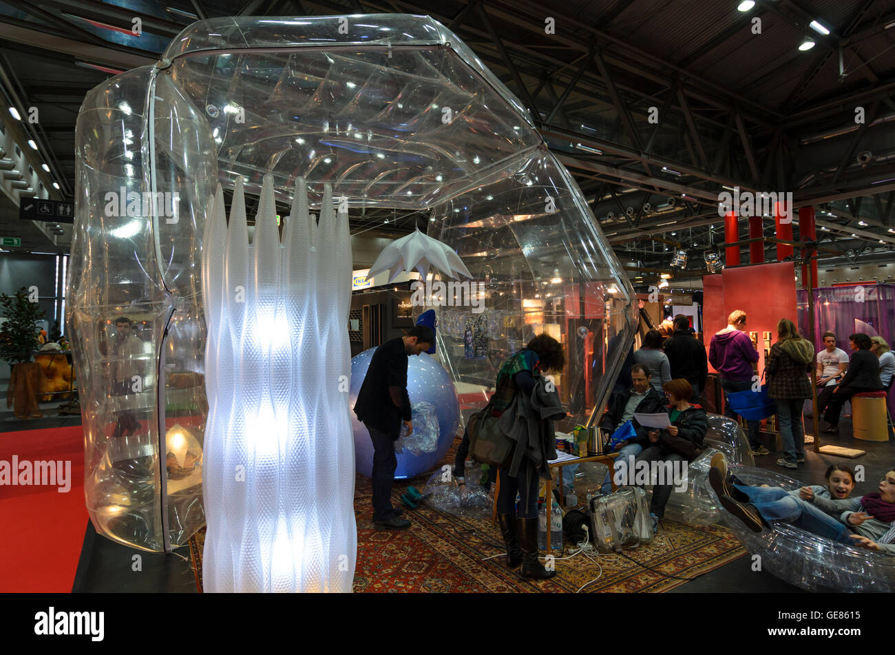Wien, Vienna: Fair ' Living & Interieur ' at Messe Wien, Austria, Wien, 02. - Stock Image