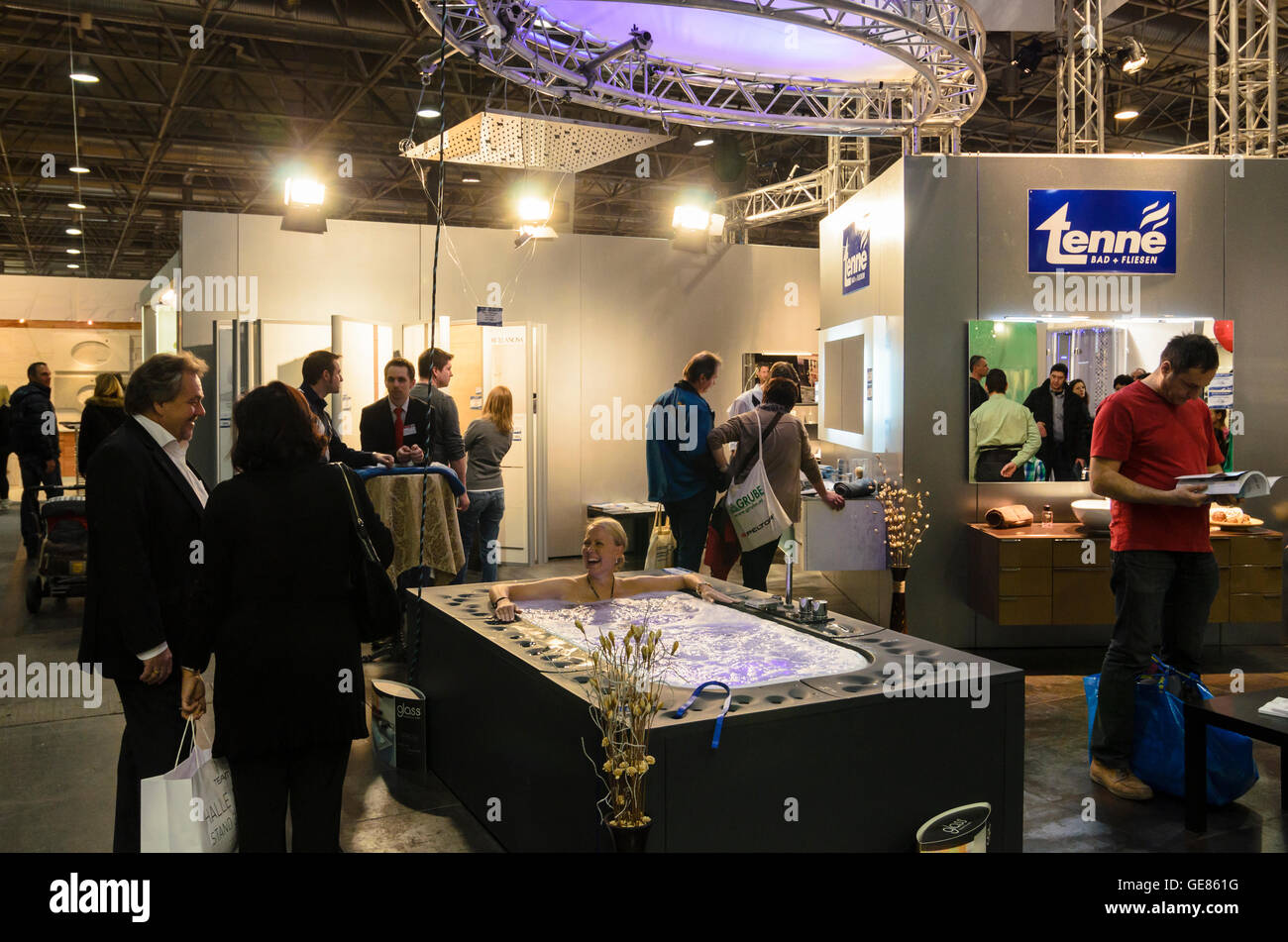 Wien, Vienna: Fair ' Living & Interieur ' at Messe Wien, Whirlpool, Austria, Wien, 02. - Stock Image
