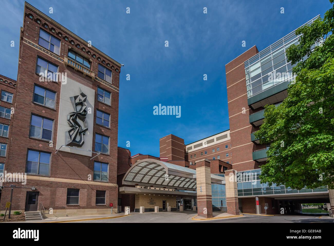Abbott Northwestern Hospital - Minneapolis Entrance Stock