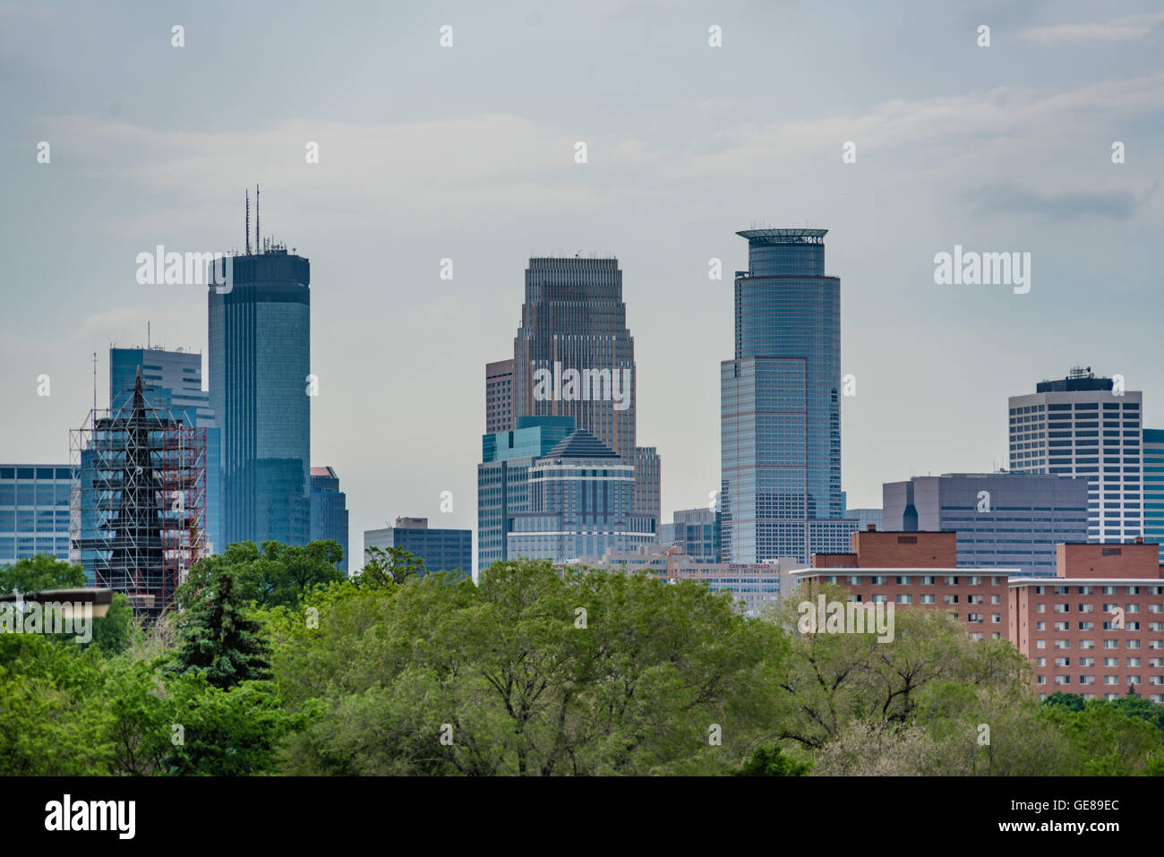 Afternoon Minneapolis Skyline - Stock Image