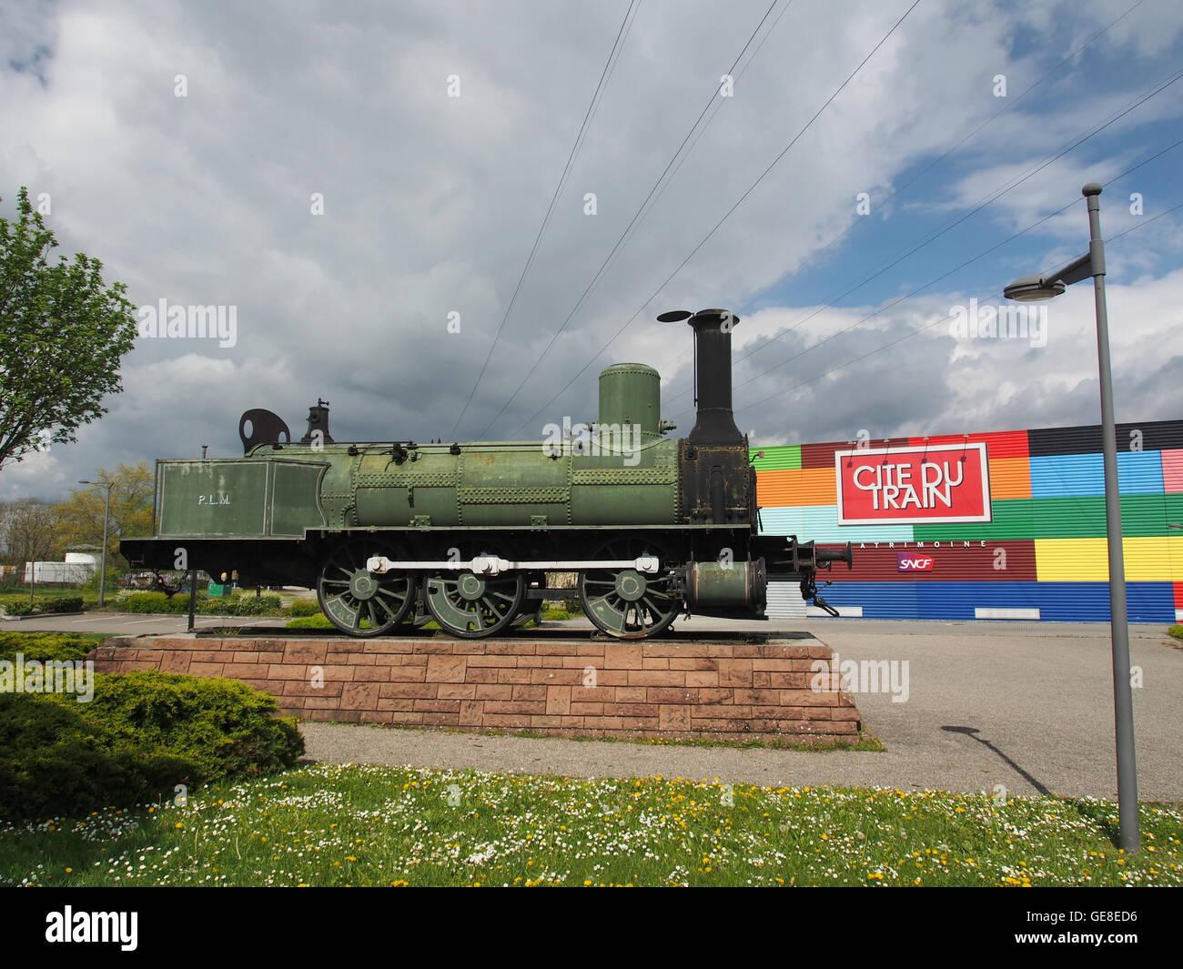 Steam locomotive Bourbonnais of the PLM at the Cité du Train photo 5 Stock Photo