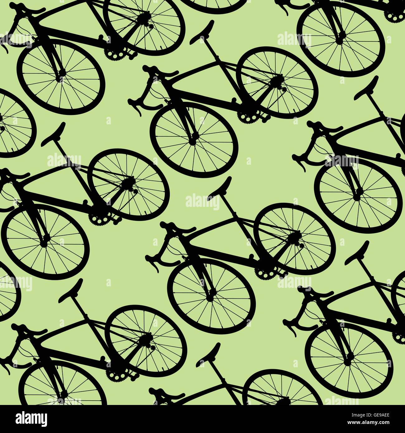 Bicycle Pattern Wallpaper Vintage Retro Vector Background Concept For Stock Vector Image Art Alamy