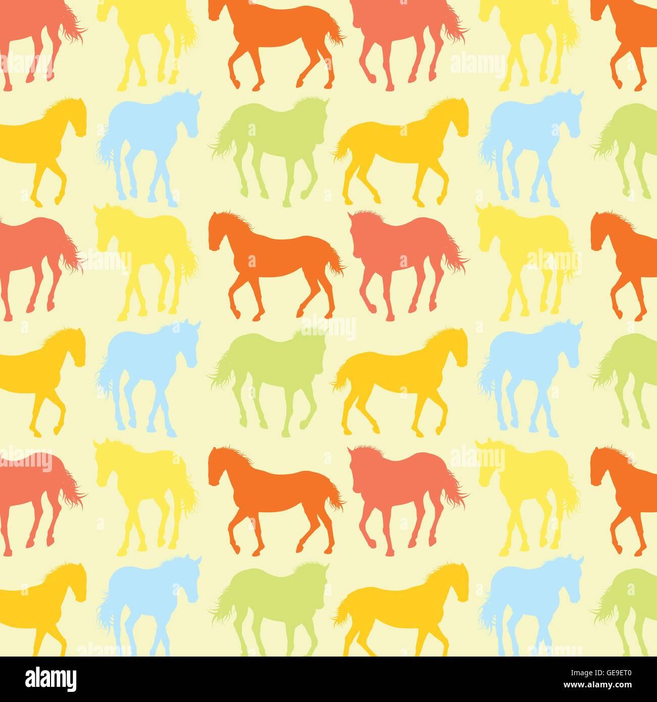 Horses Pattern Vector Background Wallpaper Concept Illustration Stock Vector Image Art Alamy