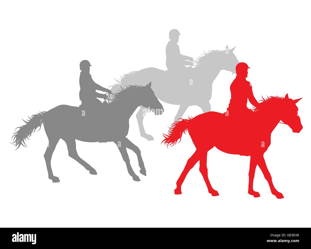 Horse Riding Winner Vector Background Concept Isolated Over White For Stock Vector Image Art Alamy
