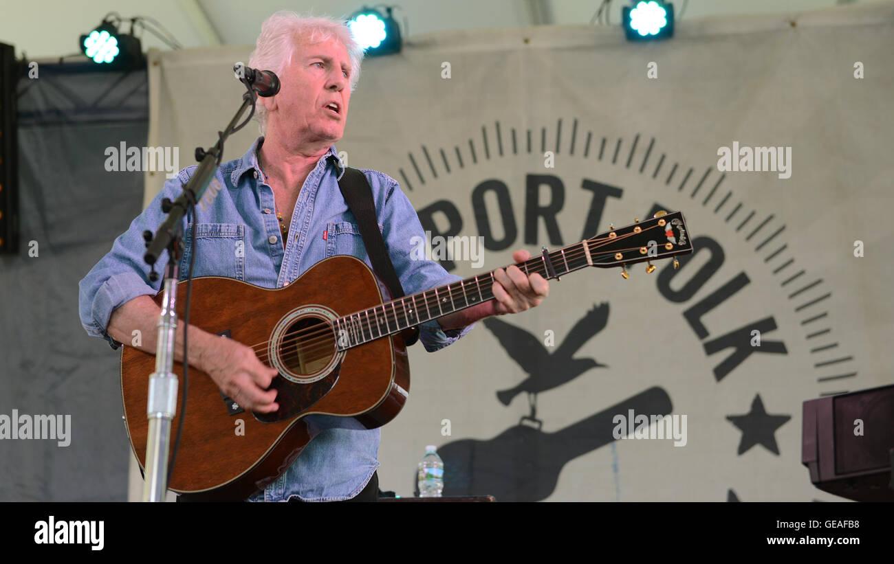 Newport, RI, USA. 24th July, 2016. Graham Nash performs at The 2016 Newport Folk Festival. Newport, RI. 7/24/16. - Stock Image