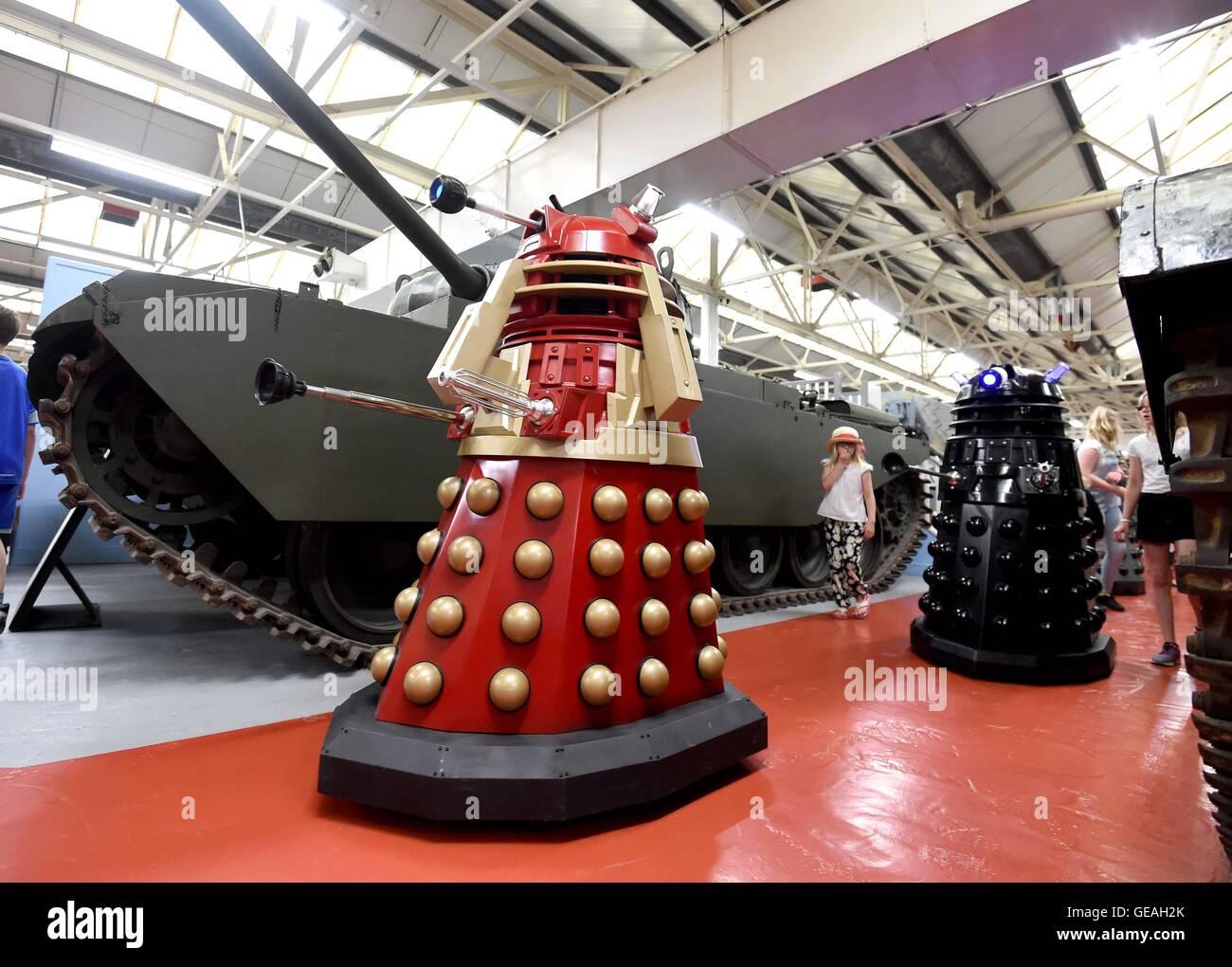 Bovington, Dorset, UK. 24th July, 2016. Attack of the Daleks at Bovington Tank Museum, Dorset, Britain Credit:  - Stock Image