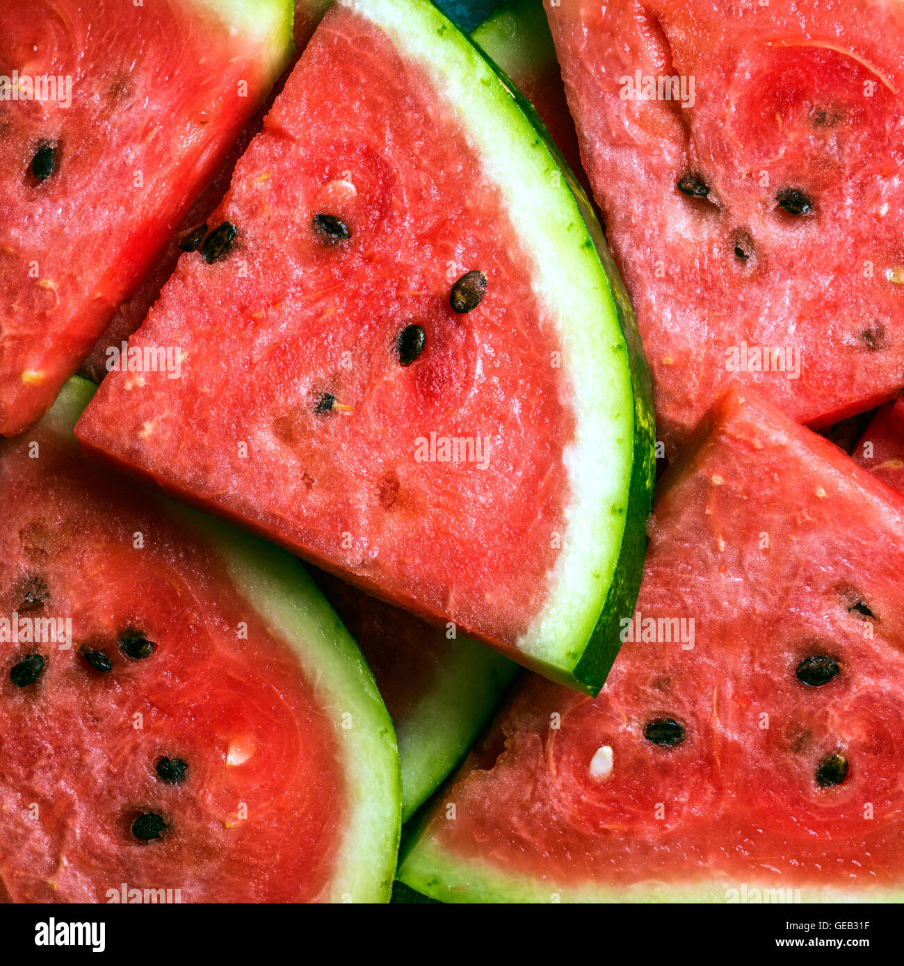 Sliced watermelon. - Stock Image