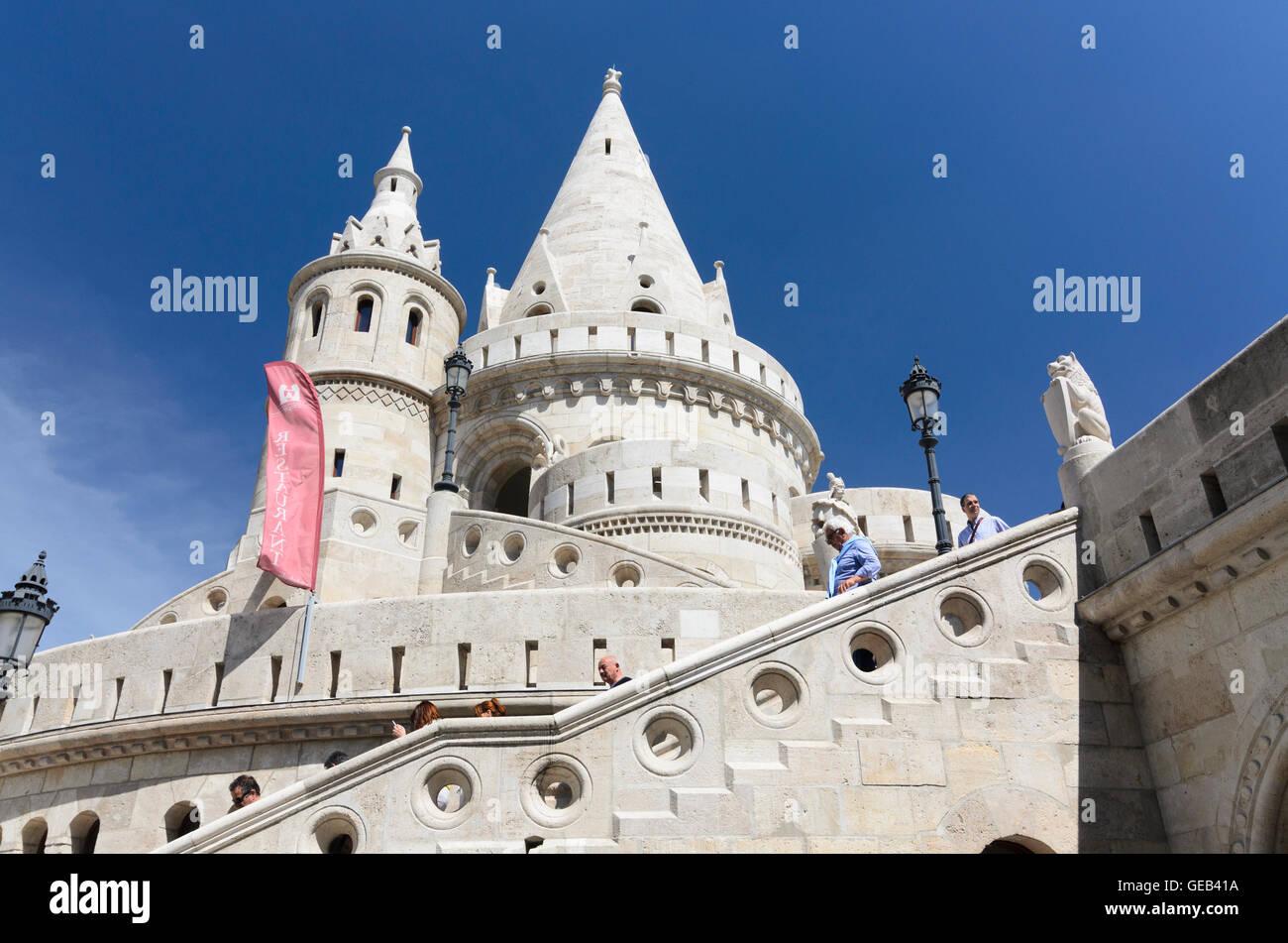 Budapest: Fishermen's Bastion, Hungary, Budapest, - Stock Image