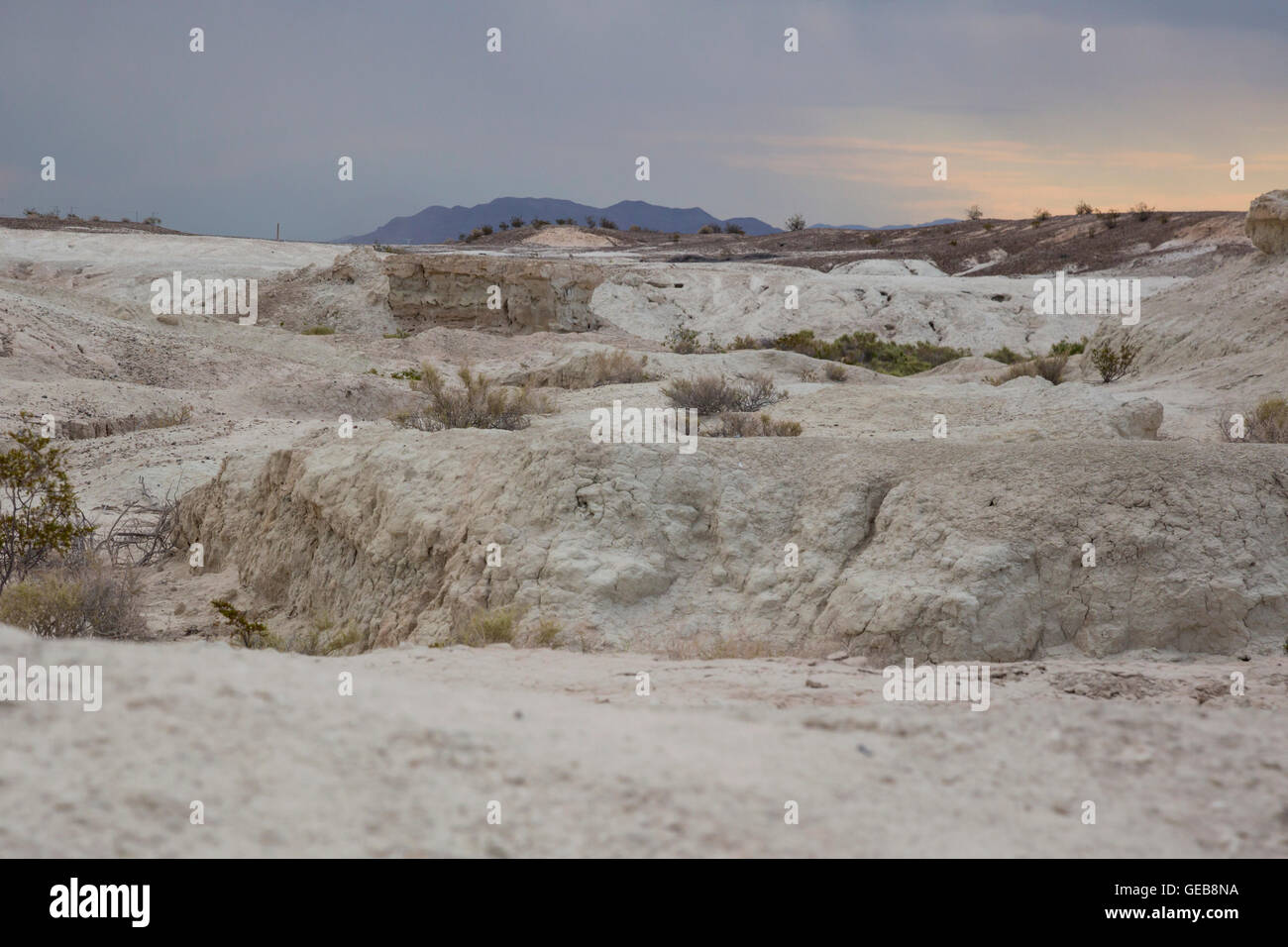 Las Vegas, Nevada - Tule Springs Fossil Beds National Monument, a rich paleontological area established in December - Stock Image