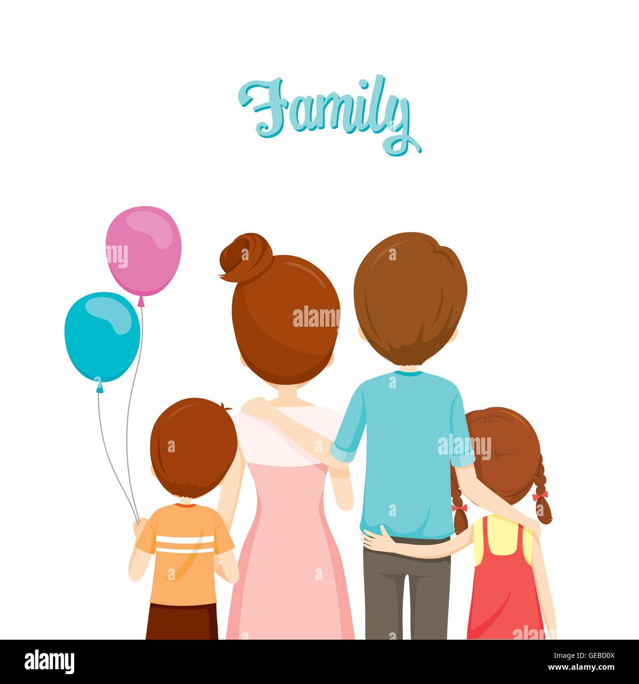 family four stock vector illustration of parents.html