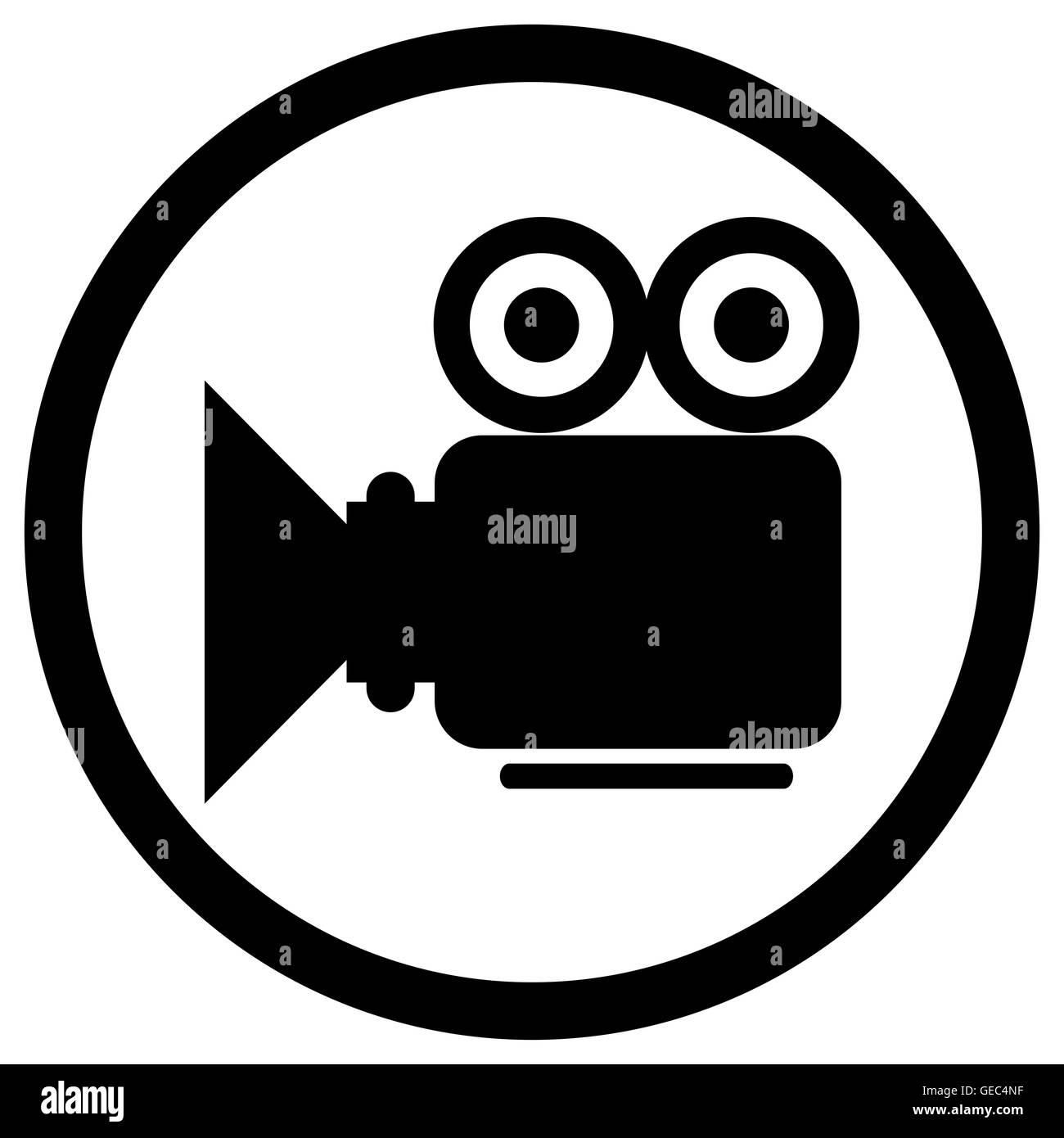 Video camera icon. Black video icon, film camera for video ...