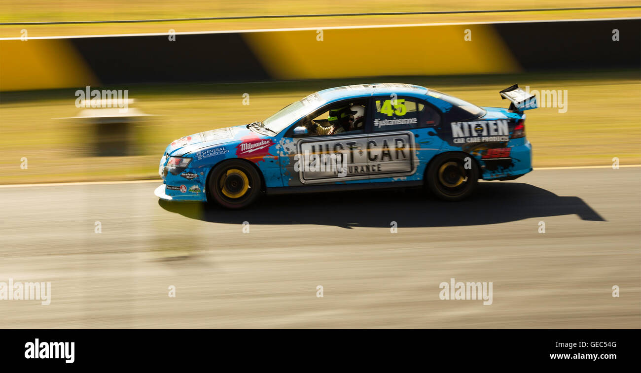 Sydney motorsport park, Eastern Creek, Australia on 16 July 2016: Commercial Race V8 sedan car at a racing ring. - Stock Image