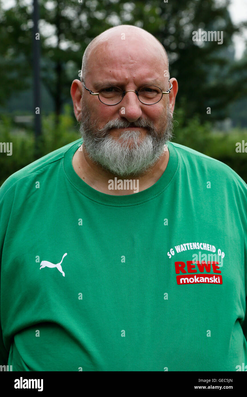 football, Regional League West, 2016/2017, SG Wattenscheid 09, team presentation for the game season, portrait kitman - Stock Image